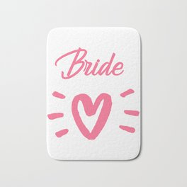 Bride To Be Pink Pulsating Heart Design Bath Mat