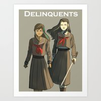 korrasami Art Prints featuring delinquent korrasami by cycloalkane