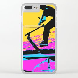 Free Falling - Stunt Scooter Rider Clear iPhone Case