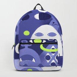 Cute Eye Monsters in Purple and Green Backpack