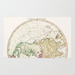 Northern Hemisphere- reproduction of William Faden's 1790 engraving Rug