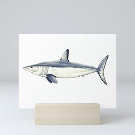 Mako shark (Isurus oxyrinchus) Mini Art Print