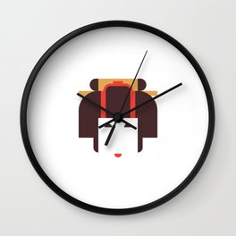 Japan Noble Woman Wall Clock