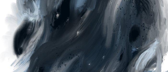 Blue Gray Swirl - abstract painting Coffee Mug