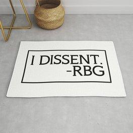I Dissent, Ruth Bader Ginsburg, RBG, notorious RGB Rug