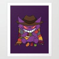 gengar Art Prints featuring Gengar Who? by Cat Vickers-Claesens