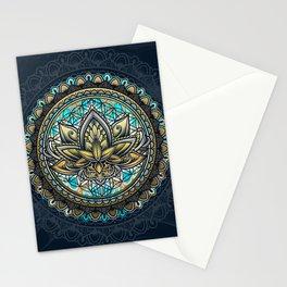 Lotus Mandala - Color Version Stationery Cards