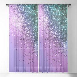 Unicorn Girls Glitter #20 #shiny #decor #art #society6 Sheer Curtain