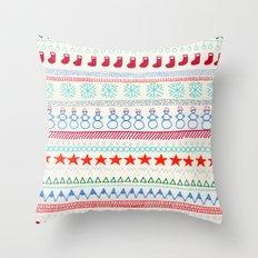 Christmas Doodles Throw Pillow