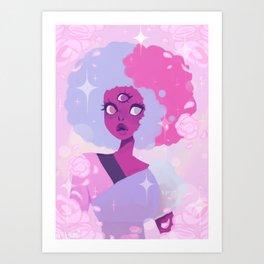 Cotton Candy Garnet  Art Print