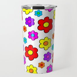 Pop Flowers Travel Mug