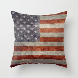USA Flag Banner - Imagine this Throw Pillow