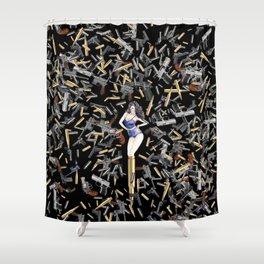 Bullet Girl Shower Curtain