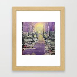 Warm winter beauty Framed Art Print