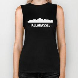 Tallahassee Florida Skyline Cityscape Biker Tank