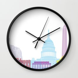 Washington DC skyline pop Wall Clock