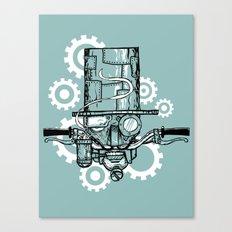 Robot Handlebar Mustache  Canvas Print