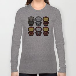 Chibi-Fi Iron Man Movie Armory Long Sleeve T-shirt