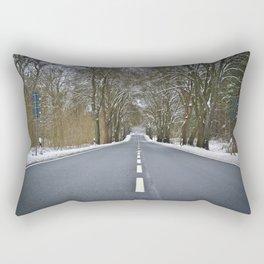 Snow road perspective Rectangular Pillow