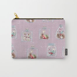 Christmas Pattern Pink Carry-All Pouch