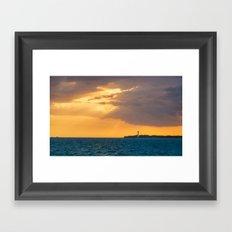 Lighthouse Miami Florida Framed Art Print