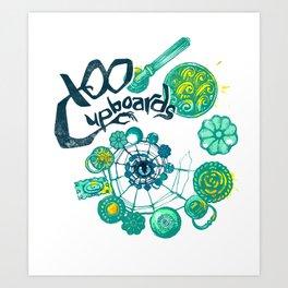 100 Cupboards Art Print