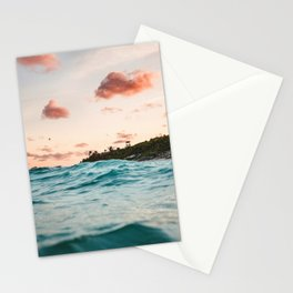 Waves at the sunset Stationery Cards