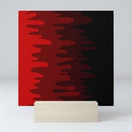 Splash of colour (red) Mini Art Print