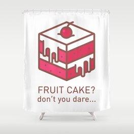 Fruitcake Sweaters Funny Lame Christmas Gift Meme Shower Curtain