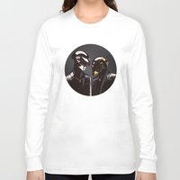 daft punk Long Sleeve T-shirts featuring DAFT PUNK by Gregory Casares
