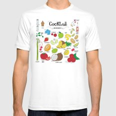 Cocktail Ingredients! Mens Fitted Tee White SMALL