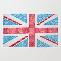uk Area & Throw Rugs featuring UK Flag by sinonelineman