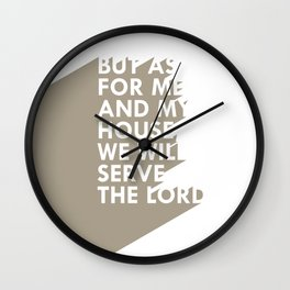 As for me & my house Wall Clock
