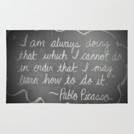 Picasso Quote Rug
