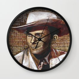 Just Another Guy on a Lost Highway Wall Clock