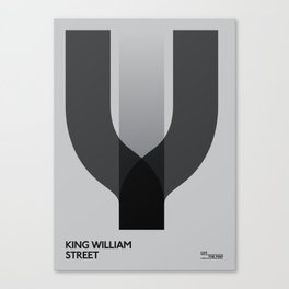 Off The Map | King William Street Canvas Print