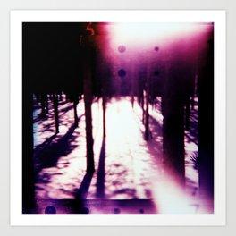Lomo Winter Trees Art Print