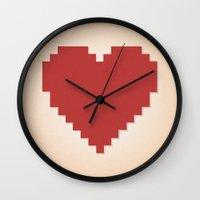 8bit Wall Clocks featuring 8bit Love by Matias Demti