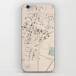 Vintage Map of Culpeper Virginia (1878) iPhone Skin