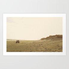 Montauk Beach Jeep Art Print