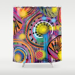Biology of Lovers on a Rainy Night (Horizontal) Shower Curtain