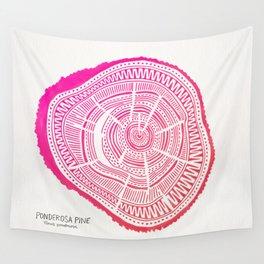 Ponderosa Pine – Pink Ombré Palette Wall Tapestry