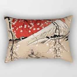 Japan Fishermen Rectangular Pillow