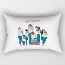 Intersectional Rosie the Riveter Rectangular Pillow