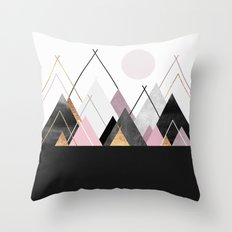 Nordic Mountains Throw Pillow