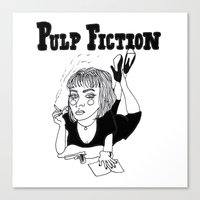 pulp fiction Canvas Prints featuring Pulp Fiction by ☿ cactei ☿
