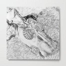 The Mermaid Metal Print