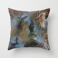 Rome Statues with color Throw Pillow