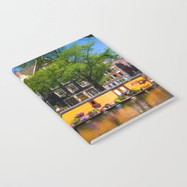 Houseboat in the summer sun Notebook