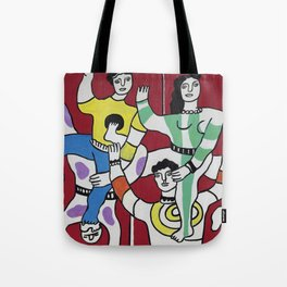 Fernand Léger The Acrobats 1942 (Les Acrobates) Artwork Reproduction, Tshirts Posters Bags for Men Women and Kids Tote Bag